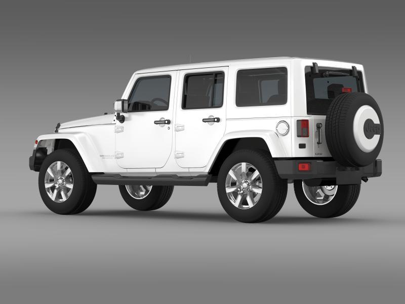 jeep wrangler unlimited indian summer 2014 3d model 3ds max fbx c4d lwo ma mb hrc xsi obj 160368