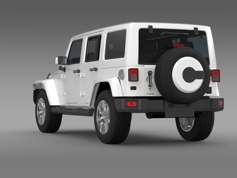 jeep wrangler unlimited indian summer 2014 3d model 3ds max fbx c4d lwo ma mb hrc xsi obj 160369