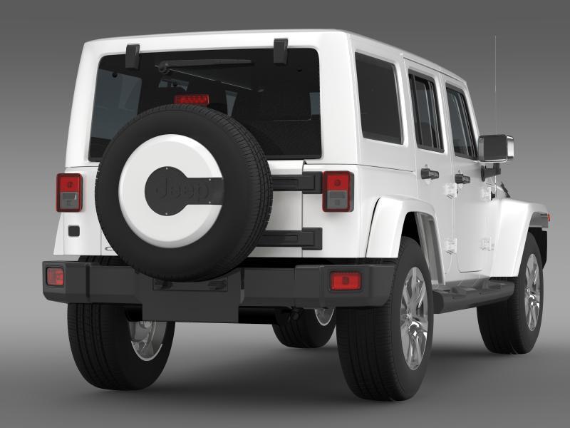 jeep wrangler unlimited indian summer 2014 3d model 3ds max fbx c4d lwo ma mb hrc xsi obj 160370