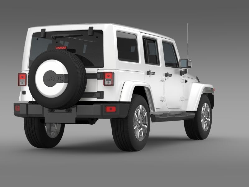 jeep wrangler unlimited indian summer 2014 3d model 3ds max fbx c4d lwo ma mb hrc xsi obj 160371