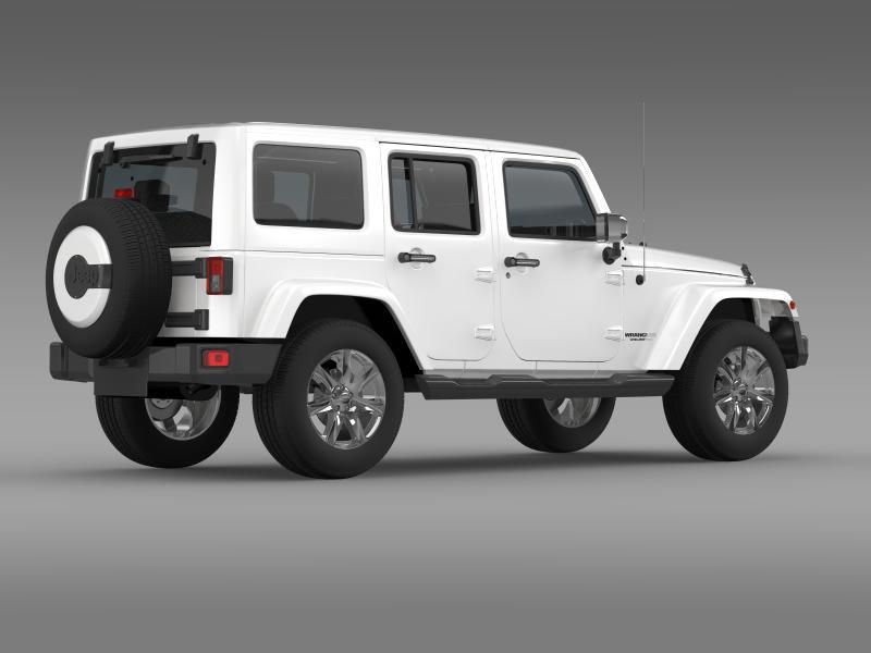 jeep wrangler unlimited indian summer 2014 3d model 3ds max fbx c4d lwo ma mb hrc xsi obj 160372
