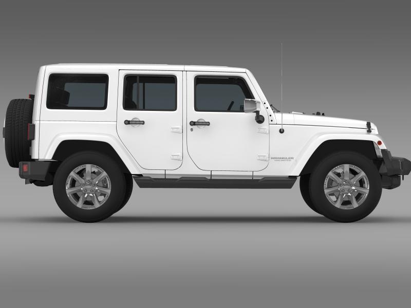 jeep wrangler unlimited indian summer 2014 3d model 3ds max fbx c4d lwo ma mb hrc xsi obj 160373