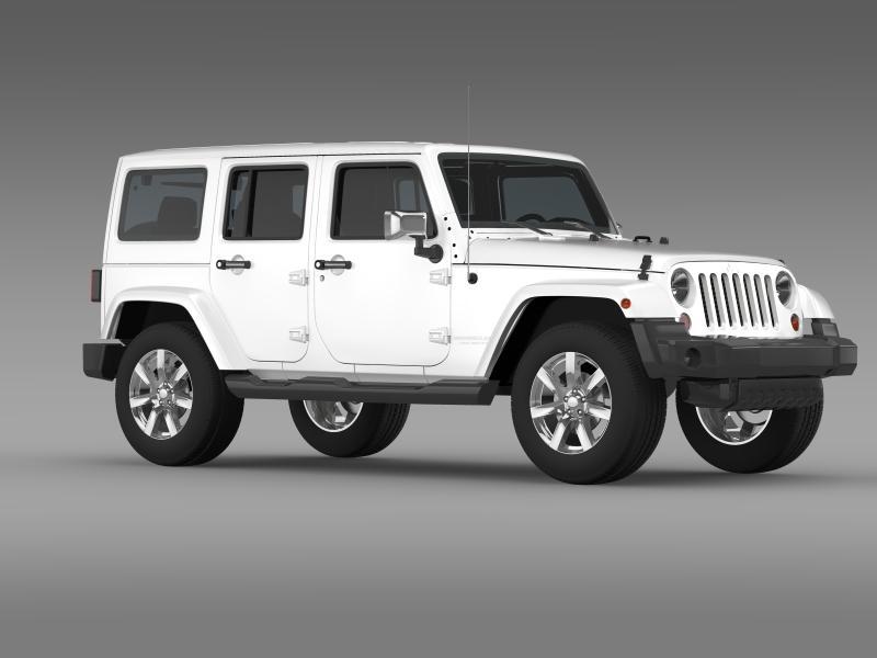 jeep wrangler unlimited indian summer 2014 3d model 3ds max fbx c4d lwo ma mb hrc xsi obj 160374