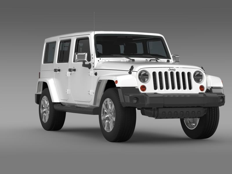 jeep wrangler unlimited indian summer 2014 3d model 3ds max fbx c4d lwo ma mb hrc xsi obj 160375