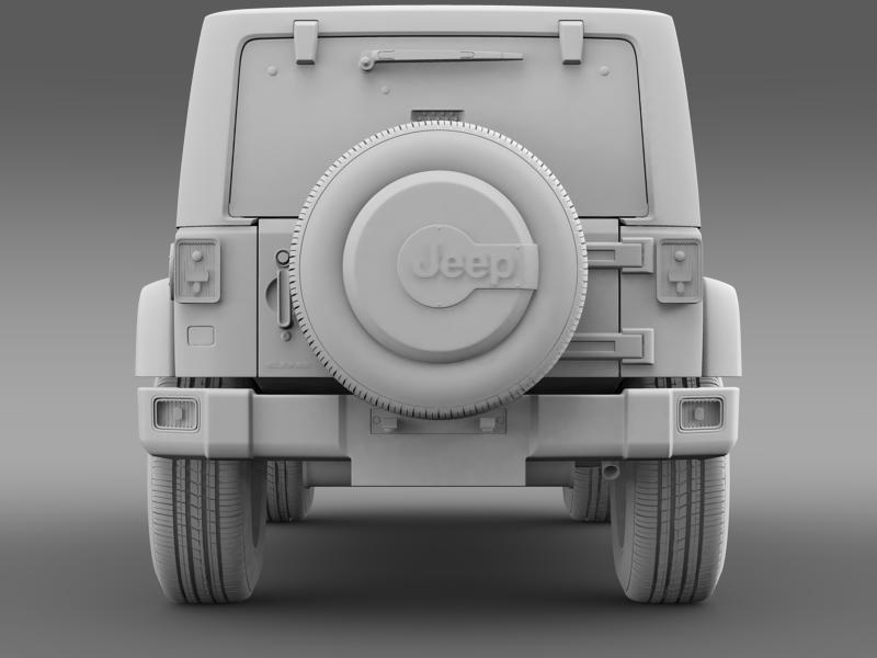 jeep wrangler unlimited indian summer 2014 3d model 3ds max fbx c4d lwo ma mb hrc xsi obj 160376