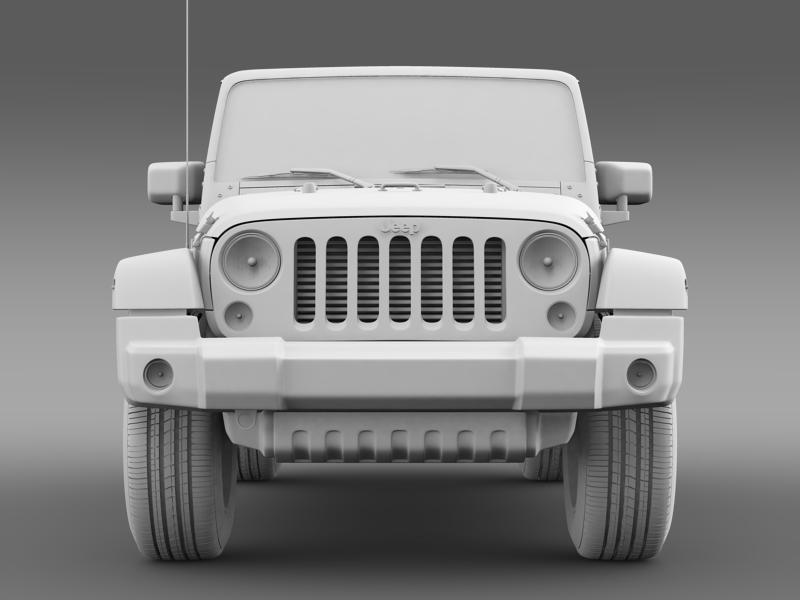 jeep wrangler unlimited indian summer 2014 3d model 3ds max fbx c4d lwo ma mb hrc xsi obj 160377