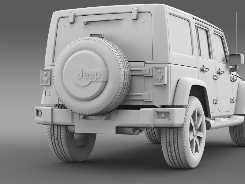 jeep wrangler unlimited indian summer 2014 3d model 3ds max fbx c4d lwo ma mb hrc xsi obj 160378