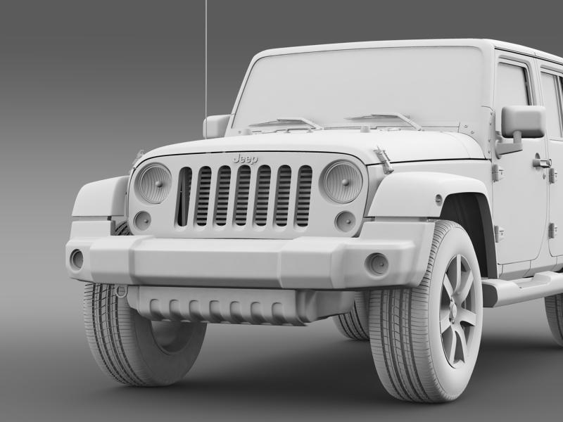 jeep wrangler unlimited indian summer 2014 3d model 3ds max fbx c4d lwo ma mb hrc xsi obj 160379