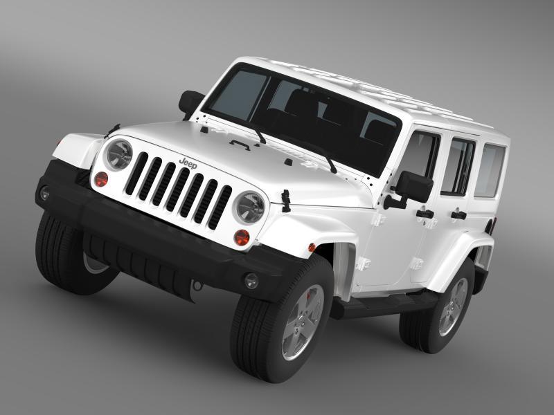 jeep wrangler unlimited sahara eu spec 2011 3d model 3ds max fbx c4d lwo ma mb hrc xsi obj 160289