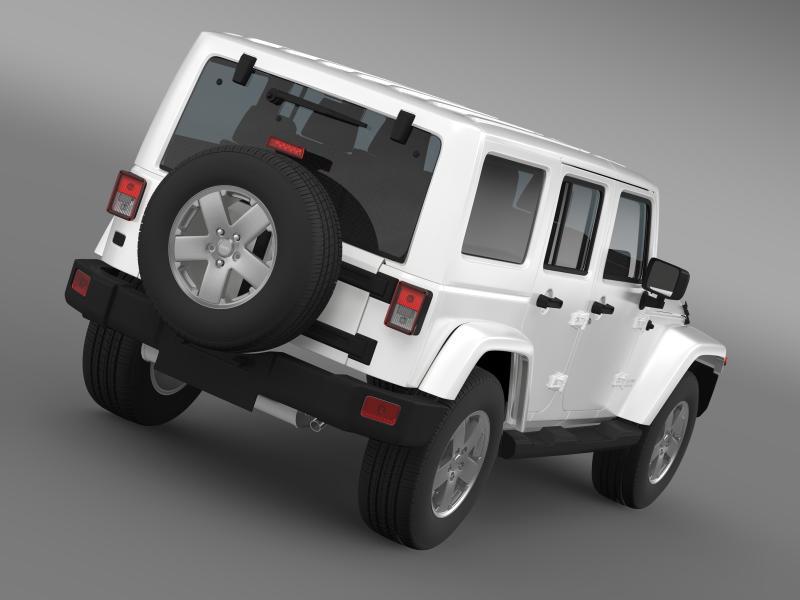 jeep wrangler unlimited sahara eu spec 2011 3d model 3ds max fbx c4d lwo ma mb hrc xsi obj 160290