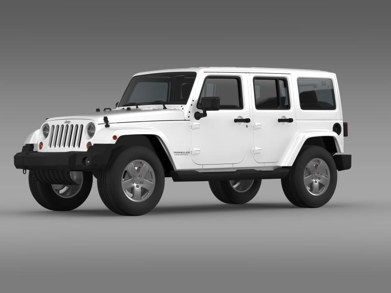 jeep wrangler unlimited sahara eu spec 2011 3d model 3ds max fbx c4d lwo ma mb hrc xsi obj 160293