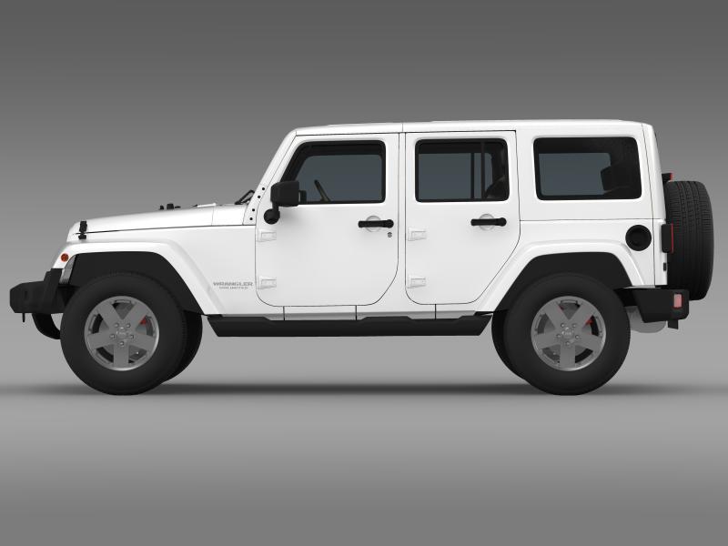 jeep wrangler unlimited sahara eu spec 2011 3d model 3ds max fbx c4d lwo ma mb hrc xsi obj 160294