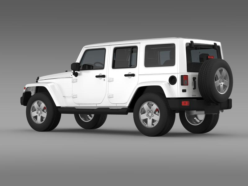 jeep wrangler unlimited sahara eu spec 2011 3d model 3ds max fbx c4d lwo ma mb hrc xsi obj 160295