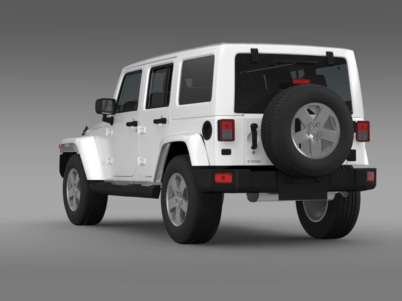 jeep wrangler unlimited sahara eu spec 2011 3d model 3ds max fbx c4d lwo ma mb hrc xsi obj 160296
