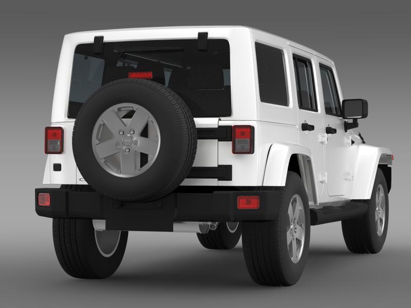 jeep wrangler unlimited sahara eu spec 2011 3d model 3ds max fbx c4d lwo ma mb hrc xsi obj 160297