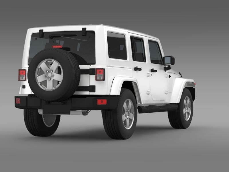jeep wrangler unlimited sahara eu spec 2011 3d model 3ds max fbx c4d lwo ma mb hrc xsi obj 160298