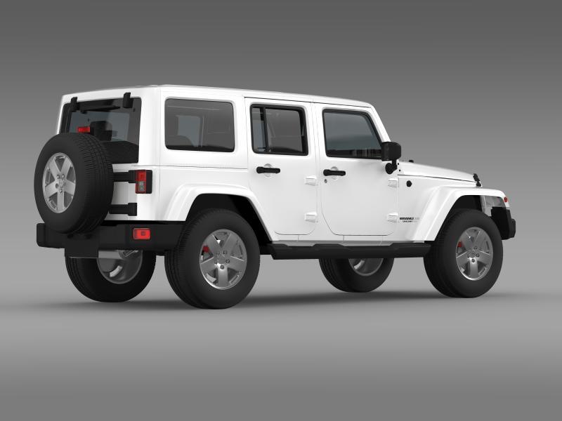 jeep wrangler unlimited sahara eu spec 2011 3d model 3ds max fbx c4d lwo ma mb hrc xsi obj 160299