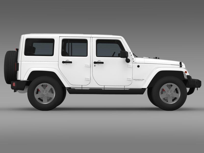 jeep wrangler unlimited sahara eu spec 2011 3d model 3ds max fbx c4d lwo ma mb hrc xsi obj 160300