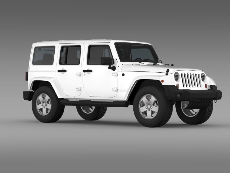 jeep wrangler unlimited sahara eu spec 2011 3d model 3ds max fbx c4d lwo ma mb hrc xsi obj 160301
