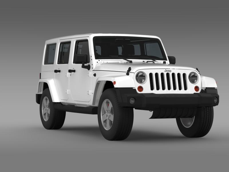 jeep wrangler unlimited sahara eu spec 2011 3d model 3ds max fbx c4d lwo ma mb hrc xsi obj 160302