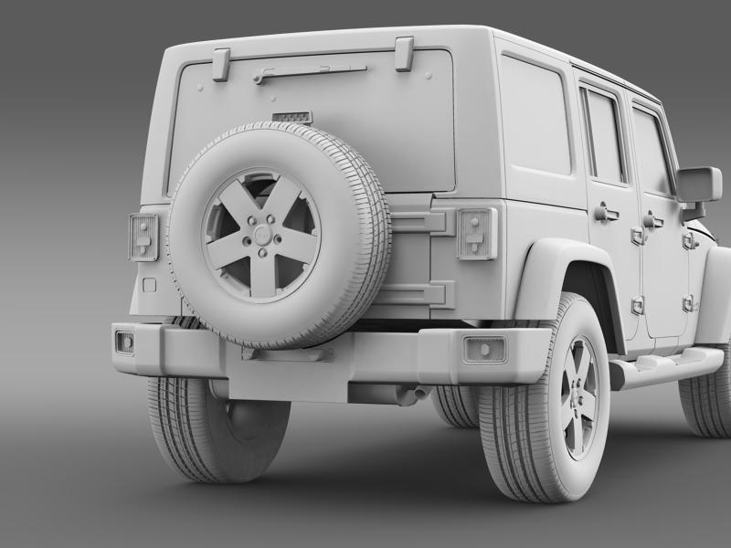 jeep wrangler unlimited sahara eu spec 2011 3d model 3ds max fbx c4d lwo ma mb hrc xsi obj 160304