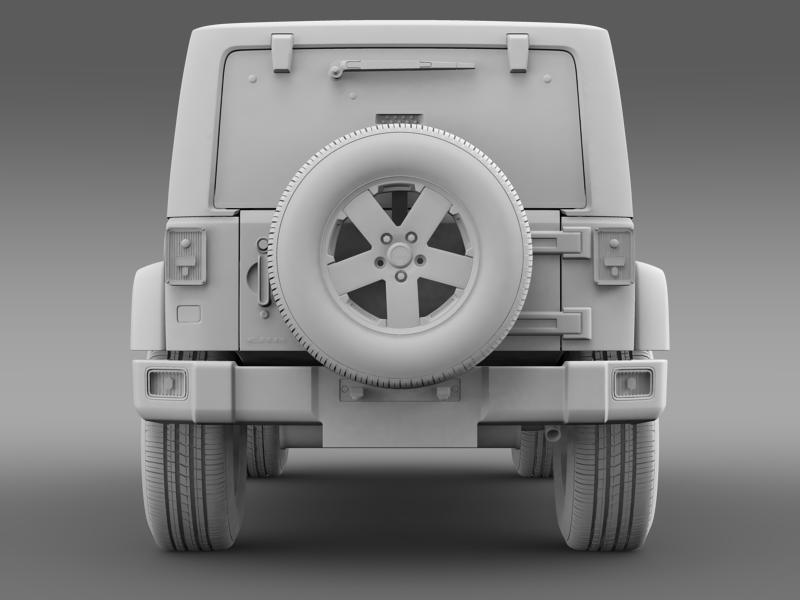 jeep wrangler unlimited sahara eu spec 2011 3d model 3ds max fbx c4d lwo ma mb hrc xsi obj 160305