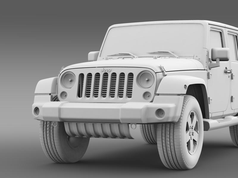 jeep wrangler unlimited sahara eu spec 2011 3d model 3ds max fbx c4d lwo ma mb hrc xsi obj 160306