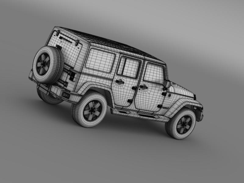 jeep wrangler unlimited sahara eu spec 2011 3d model 3ds max fbx c4d lwo ma mb hrc xsi obj 160307