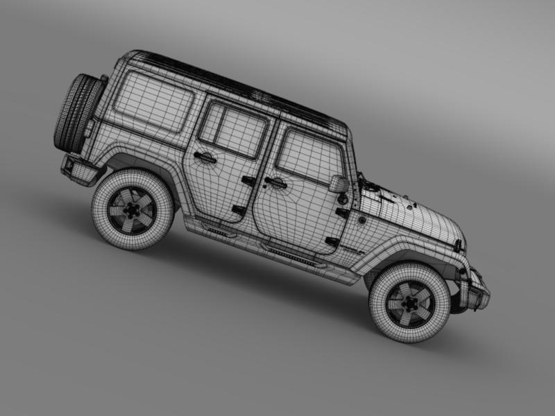 jeep wrangler unlimited sahara eu spec 2011 3d model 3ds max fbx c4d lwo ma mb hrc xsi obj 160308