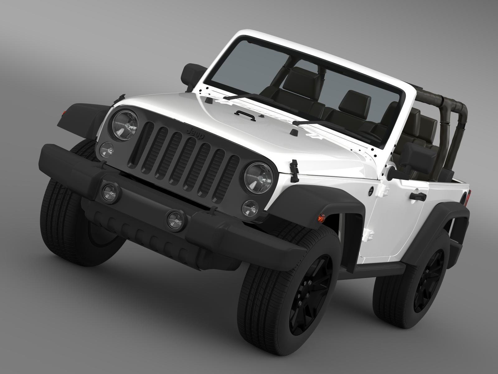 jeep wrangler willys 2014 3d model 3ds max fbx c4d lwo ma mb hrc xsi obj 162517