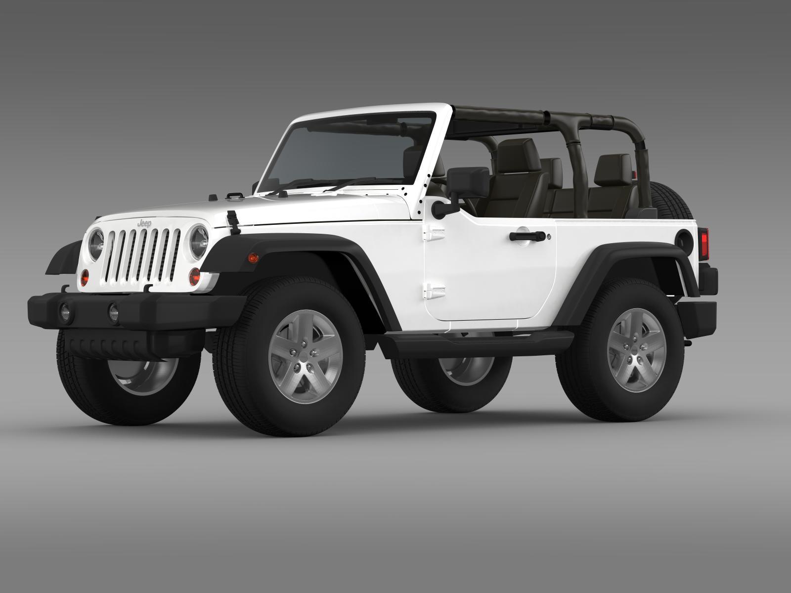 jeep wrangler islander edition 2010 3d model buy jeep. Black Bedroom Furniture Sets. Home Design Ideas