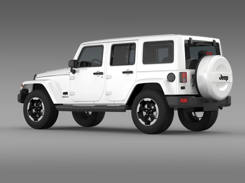 Jeep Wrangler Polar 2014 3d Model Flatpyramid