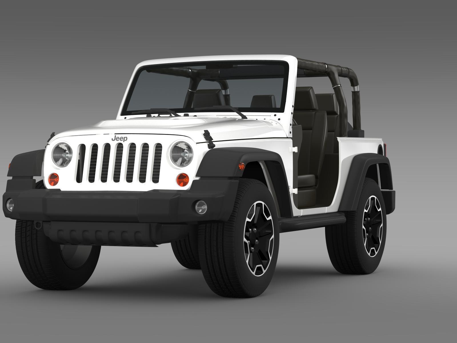 jeep wrangler rubicon 10th anniversary 2014 3d model buy jeep wrangler rubicon 10th. Black Bedroom Furniture Sets. Home Design Ideas