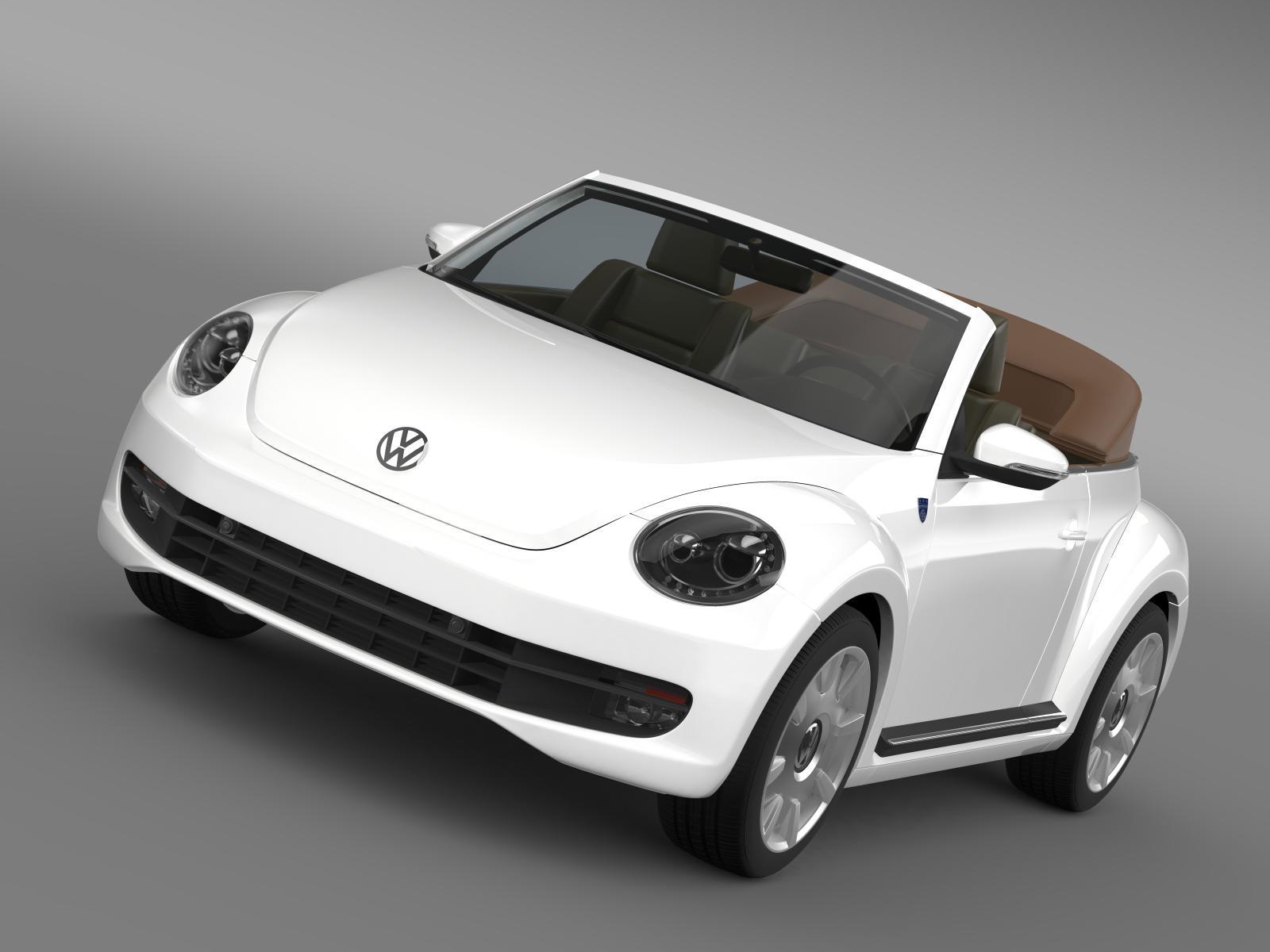 karmann beetle cabrio 2014 3d model 3ds max fbx c4d lwo ma mb hrc xsi obj 162367
