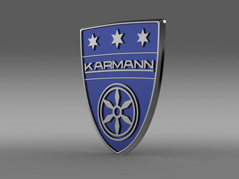karmann logo 3d model 3ds max fbx c4d lwo ma mb hrc xsi obj 163041
