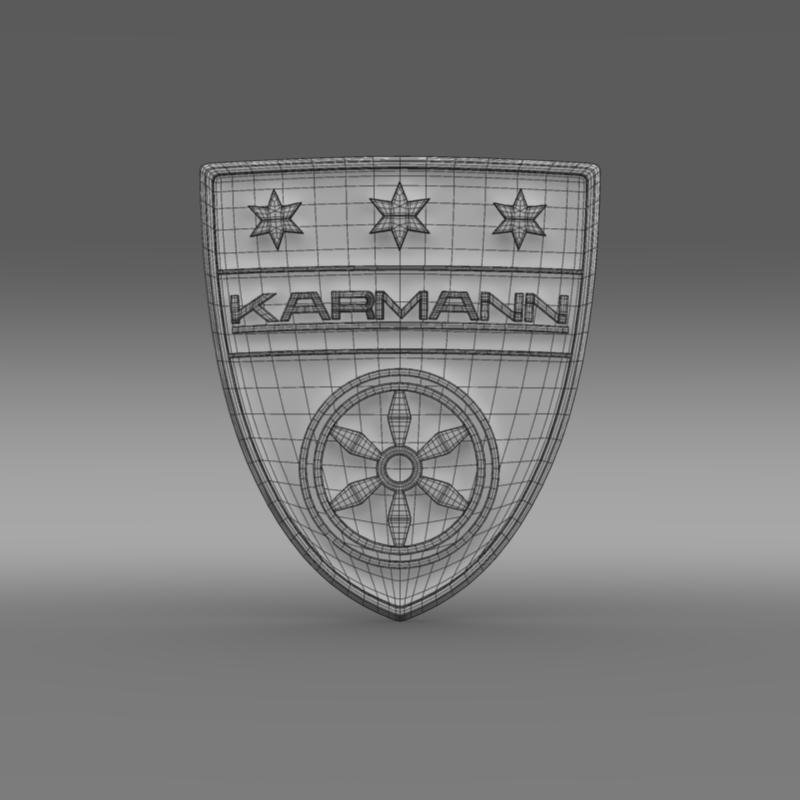 karmann logo 3d model 3ds max fbx c4d lwo ma mb hrc xsi obj 163047