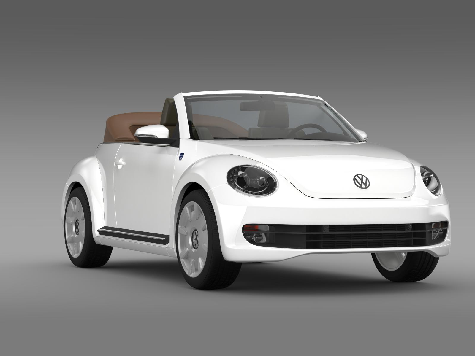 karmann beetle cabrio 2014 3d model buy karmann beetle cabrio 2014 3d model flatpyramid. Black Bedroom Furniture Sets. Home Design Ideas