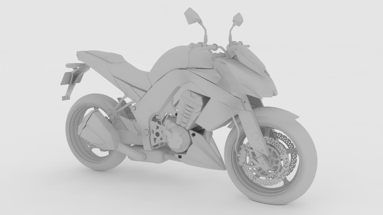 kawasaki z1000 3d model max obj 155455
