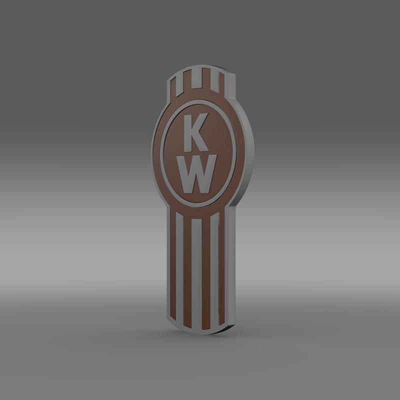 kenworth logo 3d model 3ds max fbx c4d lwo ma mb hrc xsi obj 149477