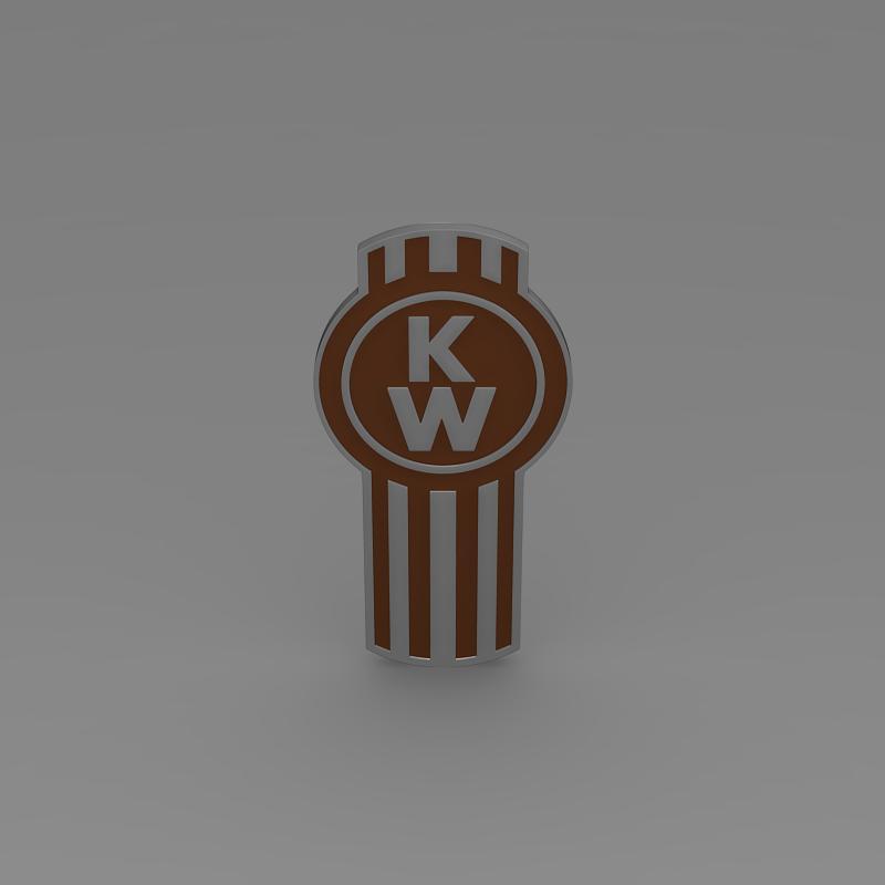 kenworth logo Model 3d 3ds max fbx c4d ar gyfer yr hrc xsi obj