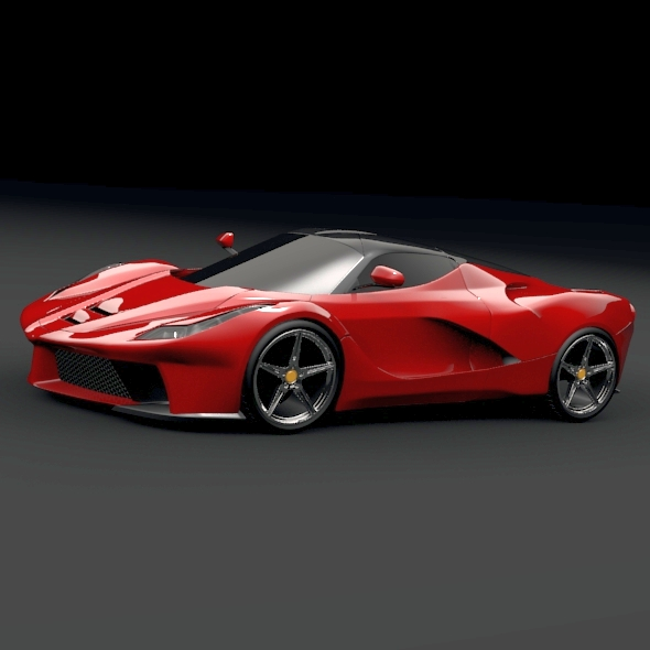 la ferrari hybrid sports car 3d model 3ds fbx blend obj 156289