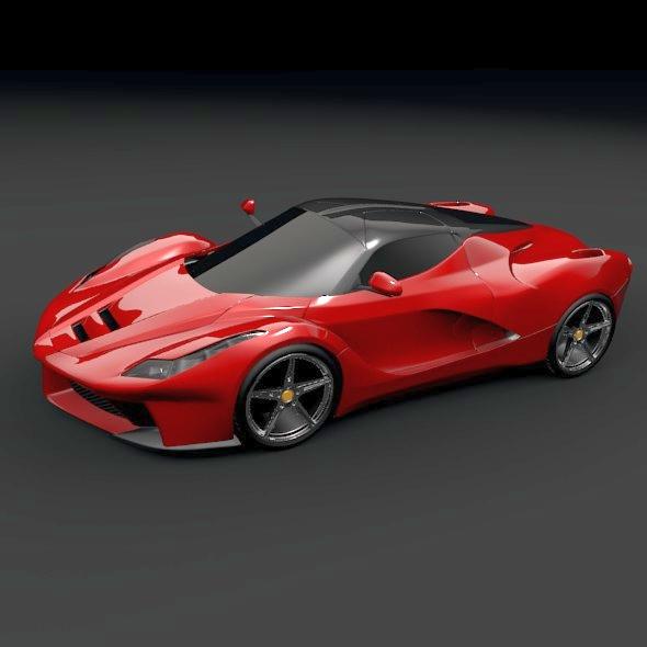 la ferrari hybrid sportski automobil 3d model 3ds fbx mješavina obj 156291