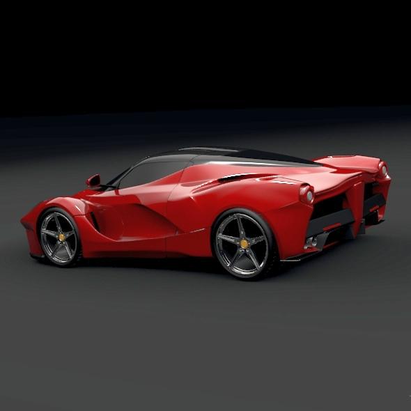 la ferrari hybrid sportski automobil 3d model 3ds fbx mješavina obj 156293
