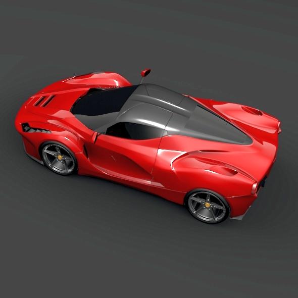 la ferrari hybrid sports car 3d model buy la ferrari. Black Bedroom Furniture Sets. Home Design Ideas