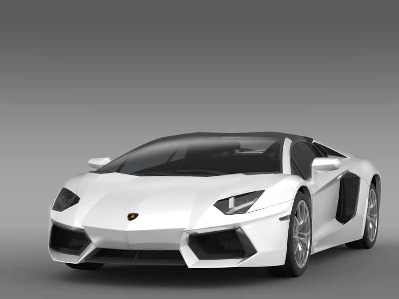 lamborghini aventador lp 700 4 roadster 3d model 3ds max fbx c4d lwo ma mb hrc xsi obj 160659
