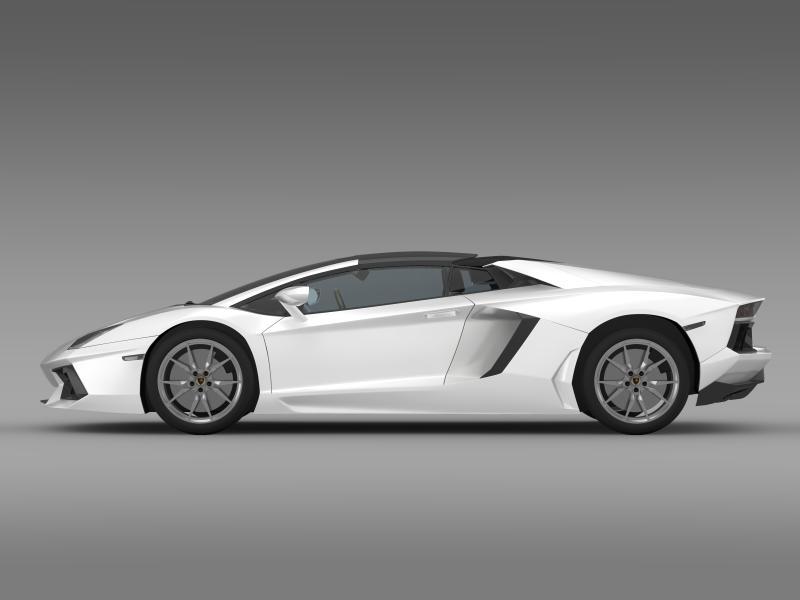 lamborghini aventador lp 700 4 roadster 3d model 3ds max fbx c4d lwo ma mb hrc xsi obj 160662