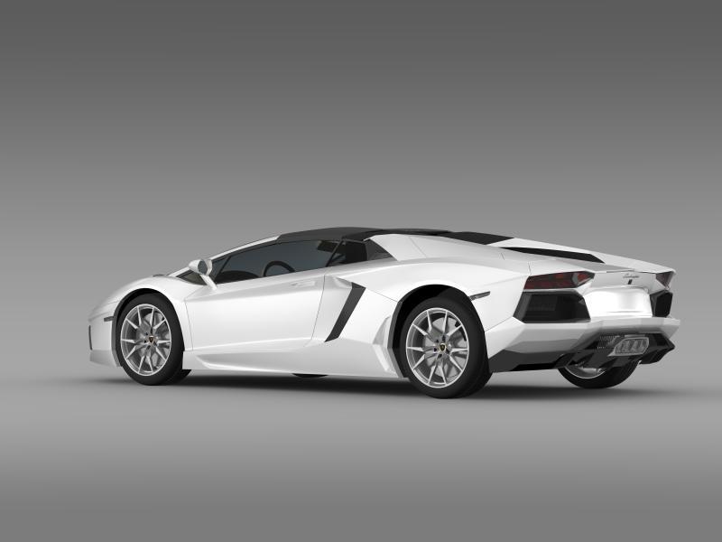 lamborghini aventador lp 700 4 roadster 3d model 3ds max fbx c4d lwo ma mb hrc xsi obj 160663