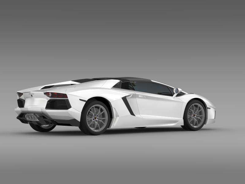 lamborghini aventador lp 700 4 roadster 3d model 3ds max fbx c4d lwo ma mb hrc xsi obj 160667