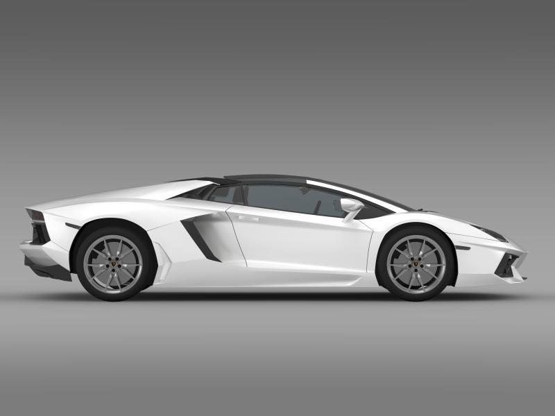 lamborghini aventador lp 700 4 roadster 3d model 3ds max fbx c4d lwo ma mb hrc xsi obj 160668