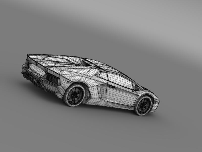 lamborghini aventador lp 700 4 roadster 3d model 3ds max fbx c4d lwo ma mb hrc xsi obj 160675